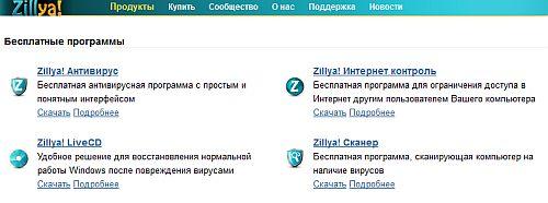 Антивирусная программа ZillUa